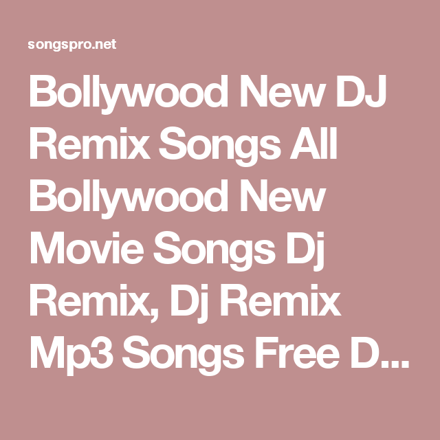 Mandarakavile Psytrance Remix Song Download: Bollywood New DJ Remix Songs All Bollywood New Movie Songs