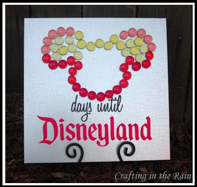 Make your own Disney countdown with these cute magnets!
