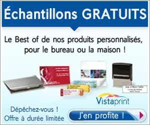 VistaPrint Offre 7 Produits Gratuits Personnalises 250 Cartes De Visite 1 Porte Carte 140 Etiquettes Dadresse 10 Postales Bloc Notes