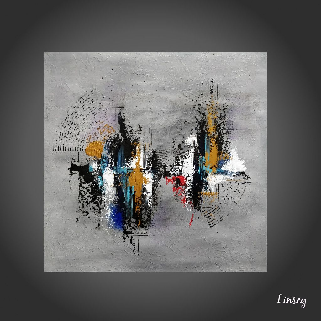 peinture abstraite bleu toile abstraite
