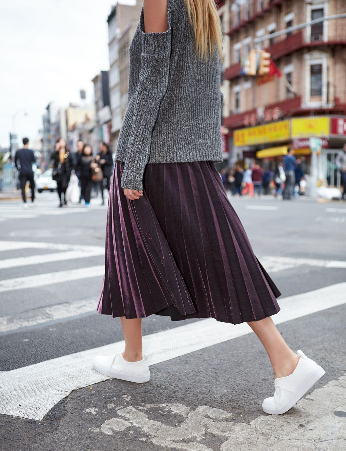 Pleated maxi dress by jovonna quiroga