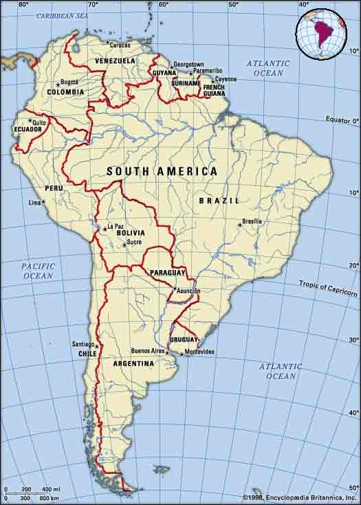 South America Map South America Pinterest South America - Caracas on world map