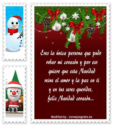 Tarjetas de navidad con mensajes para mi amor
