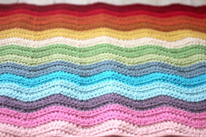 Rainbow Ripple Crochet Blanket Crochet Ripple Blanket Crochet Ripple Crochet Blanket Sizes