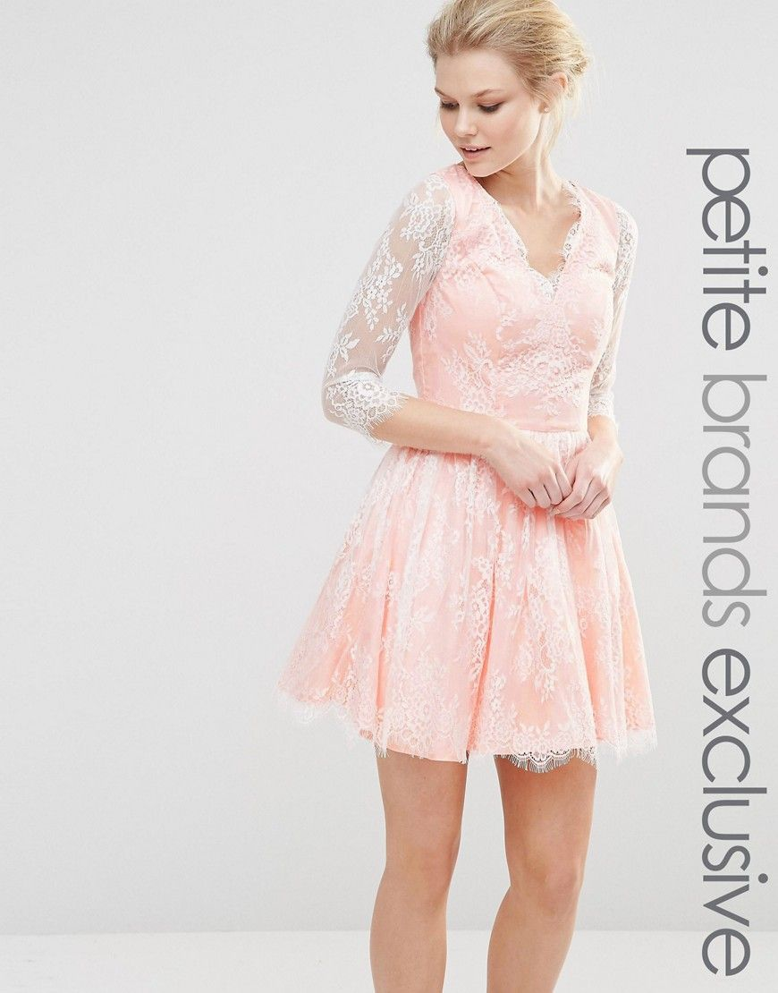 a00318eb93a5 Chi Chi London Petite Mini Longsleeve Lace Prom Dress | ASOS | Prom ...