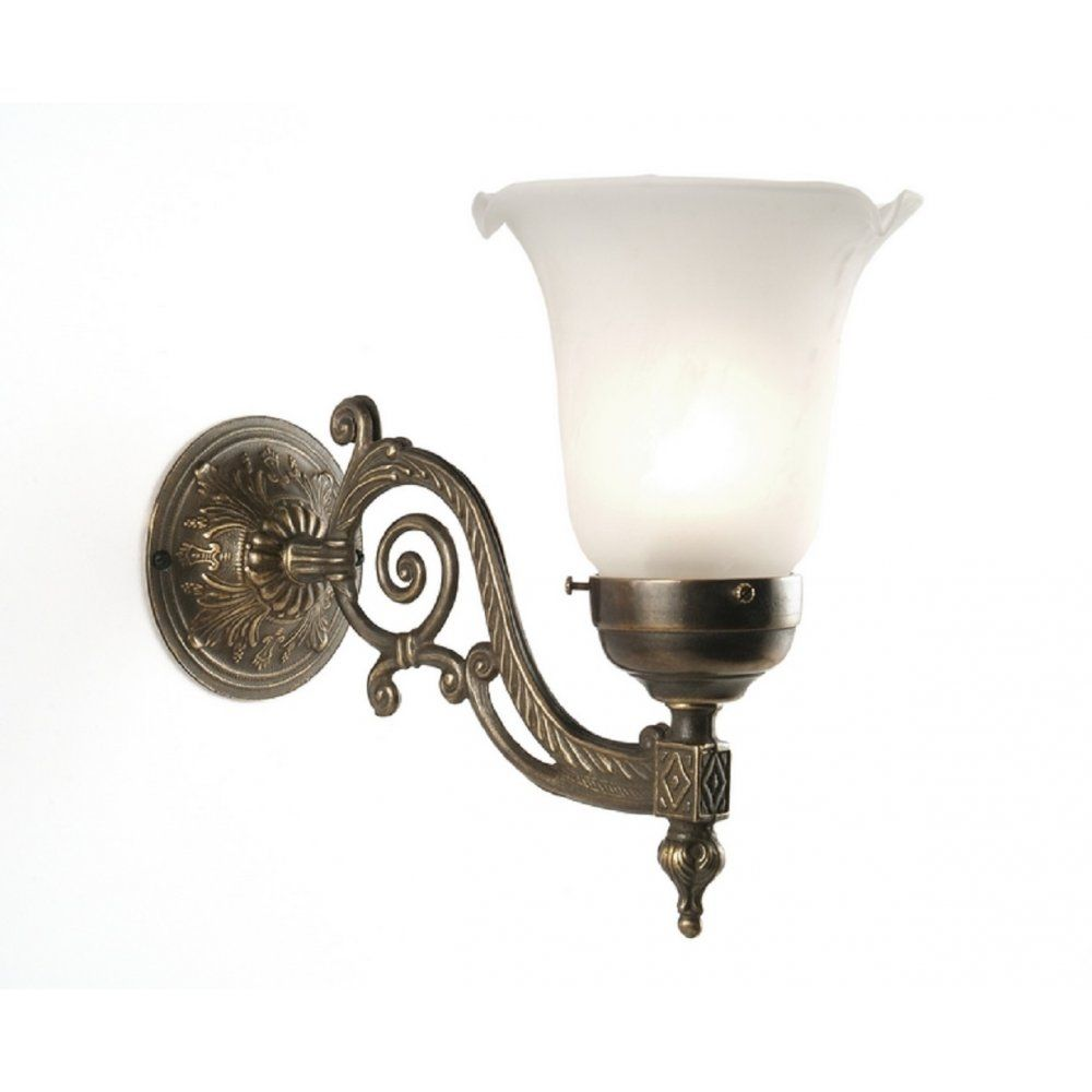 Edwardian Style Wall Light Choice Of Shades Dark Aged Br Ing
