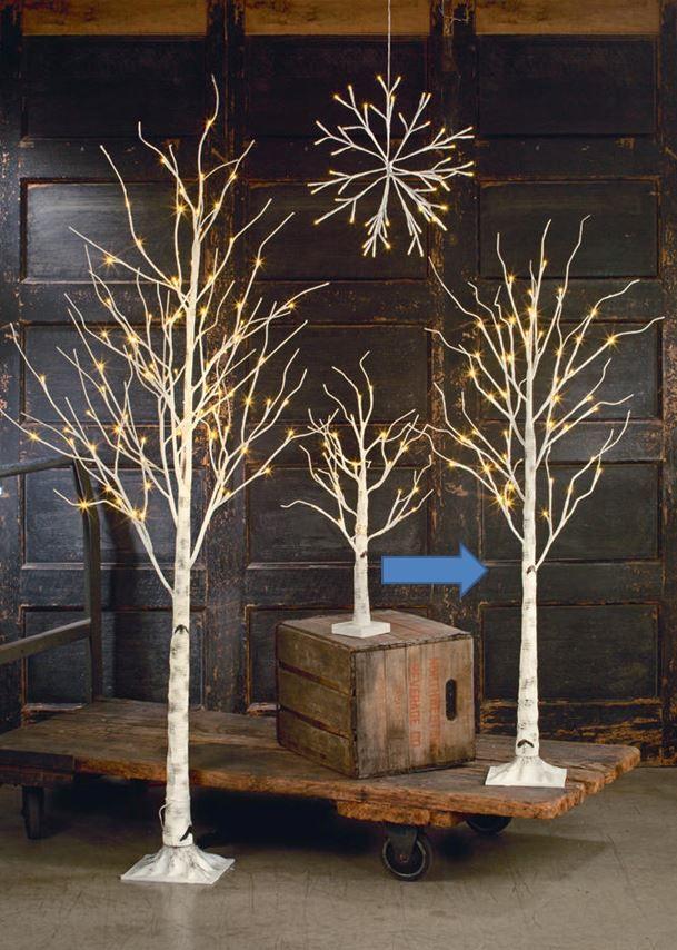 Display Tree Medium Lighted White Birch Ornament Display Trees Ornament Tree Display White Birch Trees Led Christmas Tree