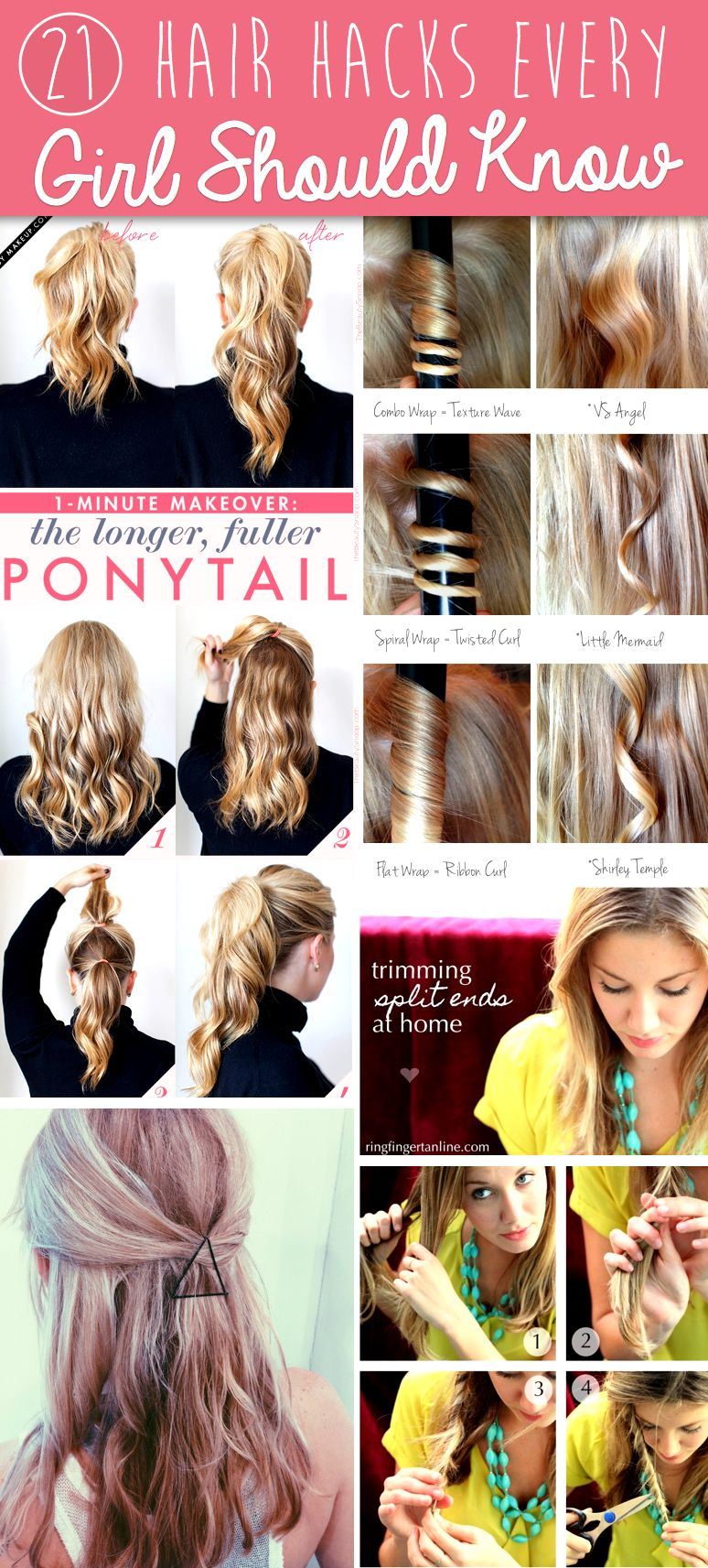 10 Hair Hacks Every Girl Should Know – Cute DIY Projects  Hair