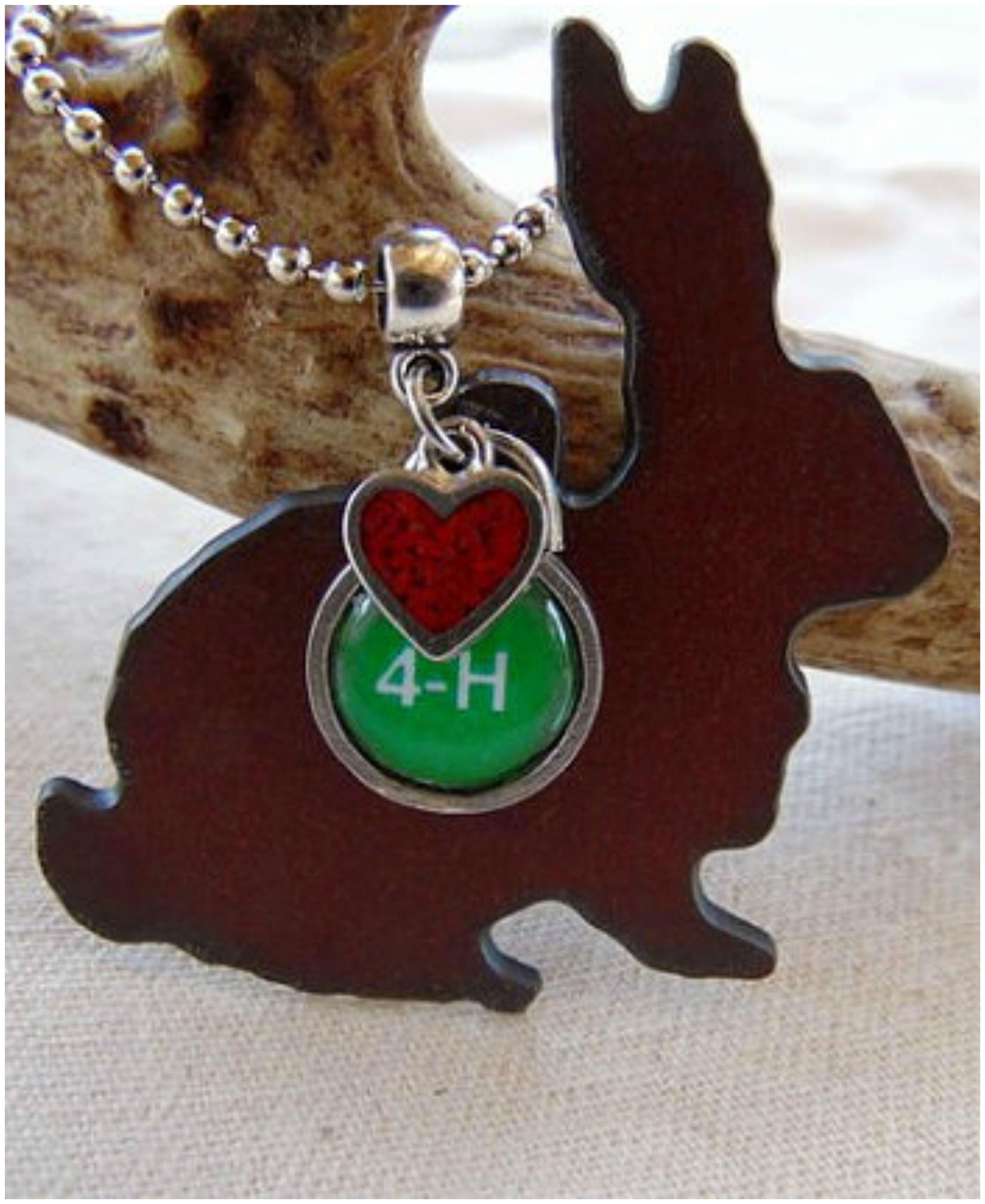 4 H Rabbit Necklace By Whippoorwill Valley With Images