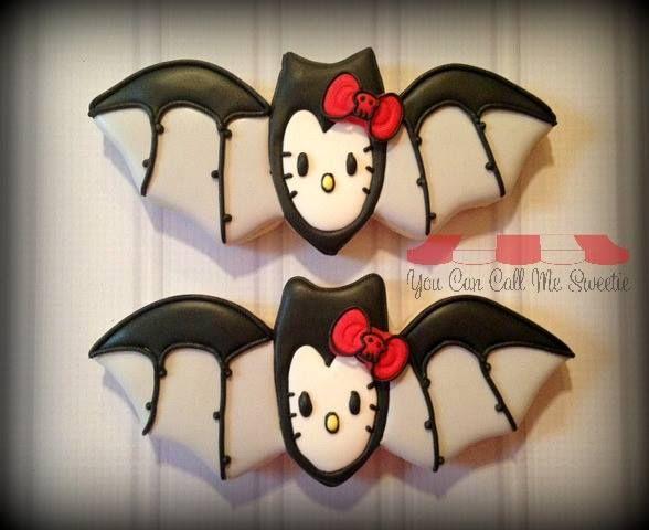 hello kitty bat cookies