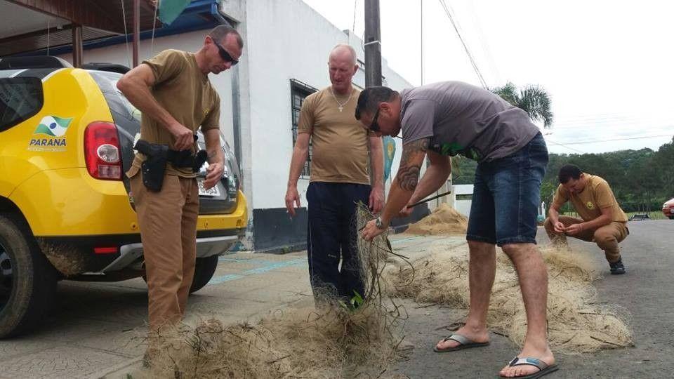 Material de pesca predatória foi encontrado na lagoa de uma empresa privada, localizada na comunidade de Barra do Rio Azul