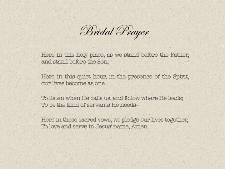 Bridal prayer composed by roger copeland the lyrics alone are so bridal prayer composed by roger copeland the lyrics alone are so meaningful but the music is breathtaking this was sung during the presentation of the stopboris Gallery