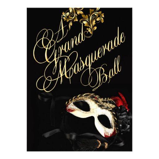 Masquerade Ball Invitation | Zazzle.com | Masquerade ...