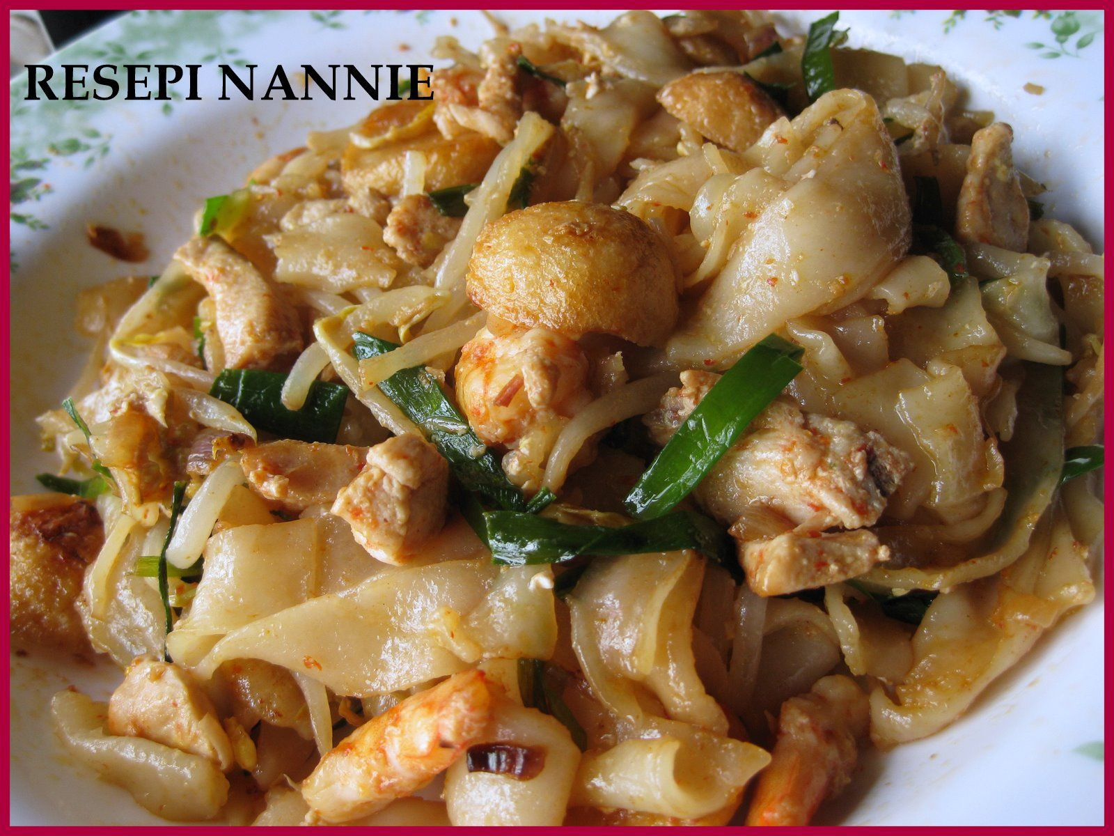Resepi Nannie Kueyteow Goreng Tak Pedas Asian Recipes