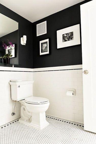Une déco wc en noir et blanc | Stylish, Toilet and Bohemian bathroom
