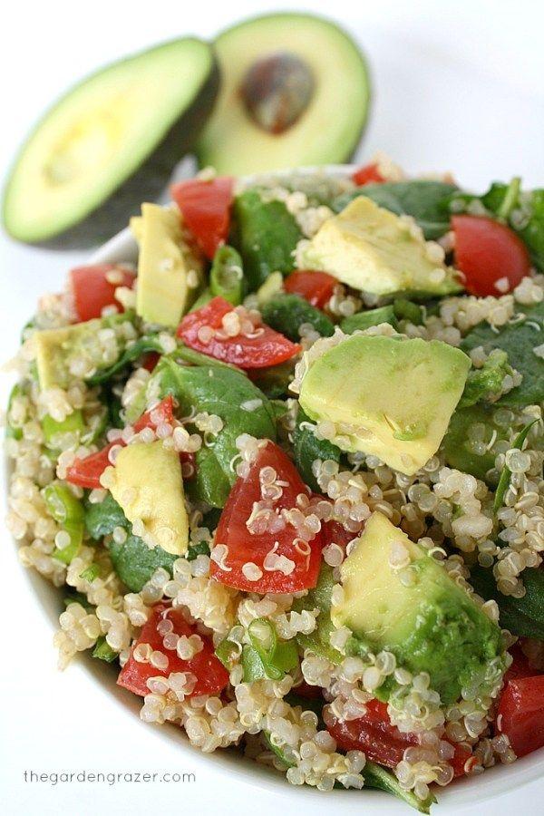 Quinoa Avocado Spinach Power Salad 30 #minutes #or #less #quinoa #avocado #spinach #power #salad