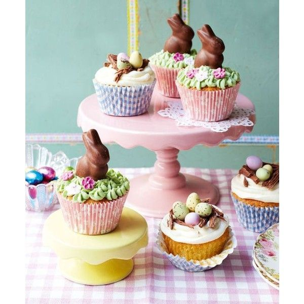 How To Make Cute Easter Cupcakes Liked On Polyvore Featuring Home Decor Holiday Decorations And Cupcake