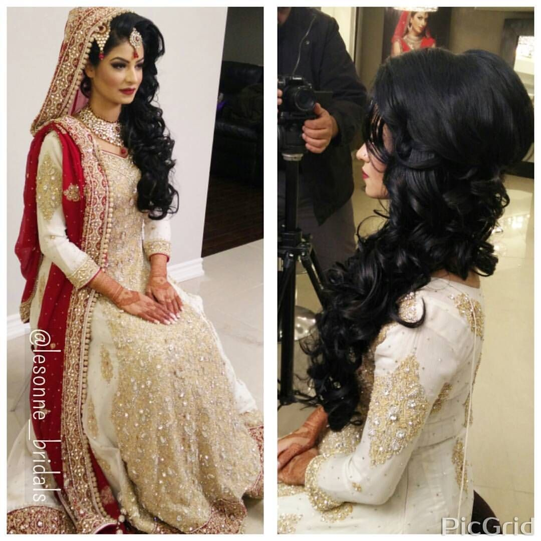 "Wedding Hairstyles Instagram: Ruchika, Hair & Make Up Artist On Instagram: ""Bouncy Flowy"