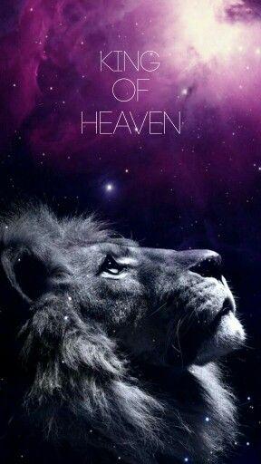 Iphone Wallpaper Galaxy Lion Purple King Of Heaven Jesus