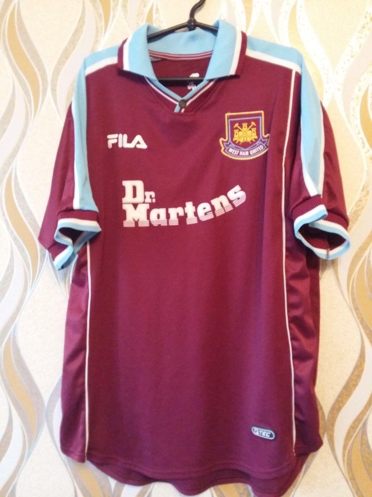 5d3b933bd West Ham United ENGLAND 1999 2000 2001 HOME FOOTBALL SHIRT JERSEY MAGLIA  FILA (