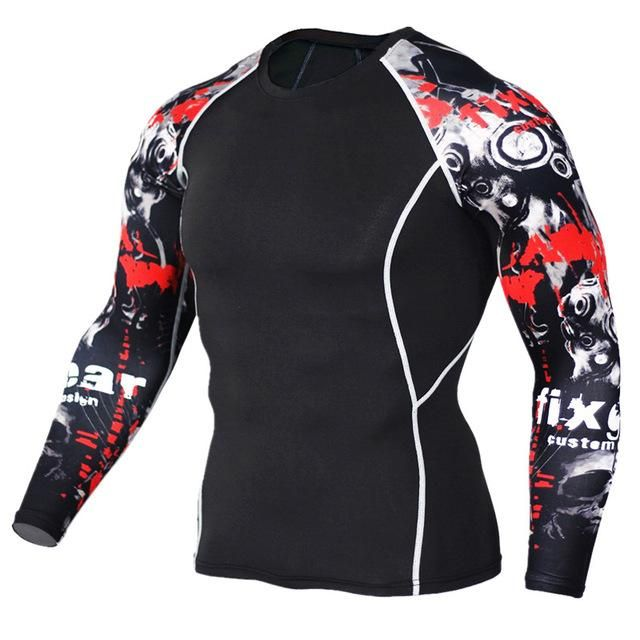 Men Women Fitness Long Sleeve Cycling Base Layers Men Bodybuilding Skin  Tight Thermal Compression Shirts MMA Workout T shirt 636b9650d