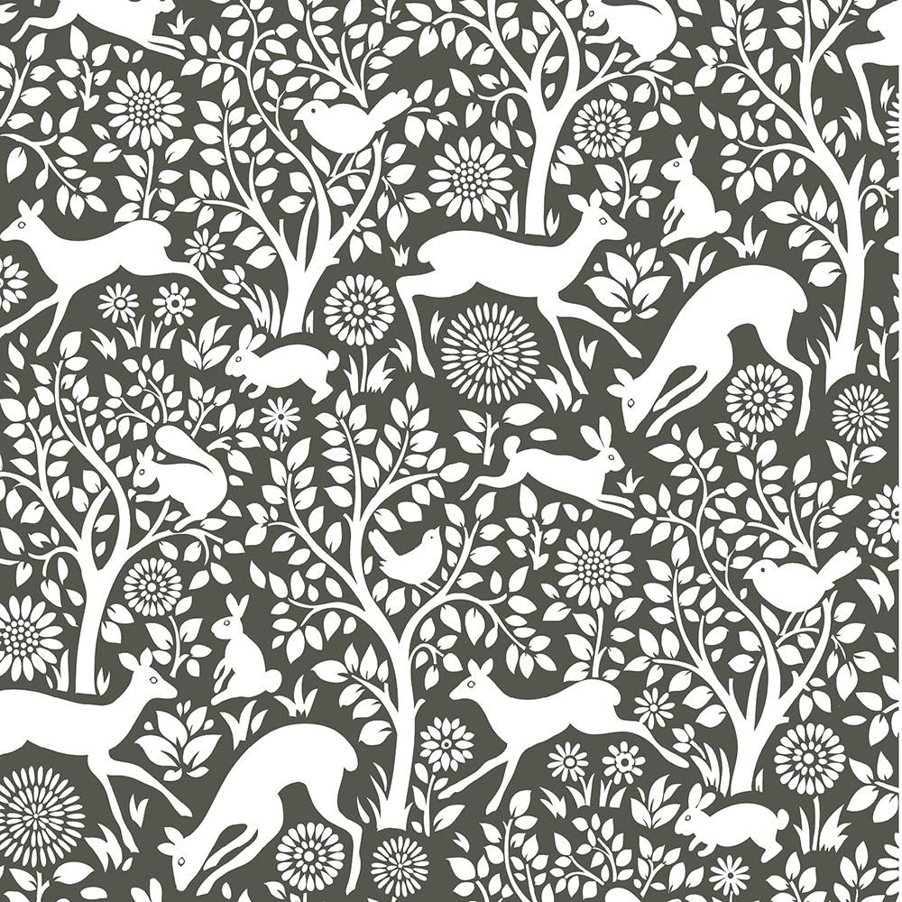 NuWallpaper Charcoal Merriment Vinyl Strippable Roll (Covers 30.75 sq. ft.)-NUS3146 - The Home Depot