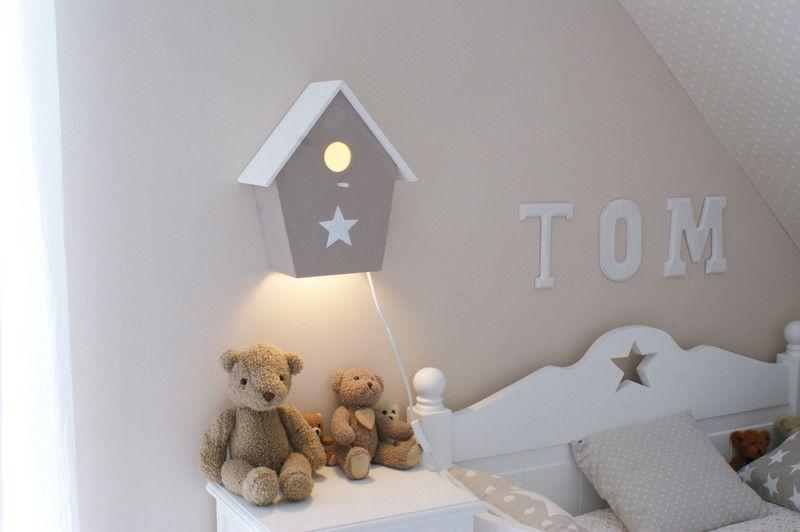 Kinderzimmerlampe Vogelhauslampe in beige von