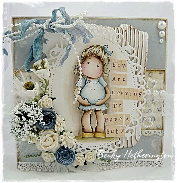 Card created for a Mum To Be by LLC DT Member Becky Hetherington. The papers…