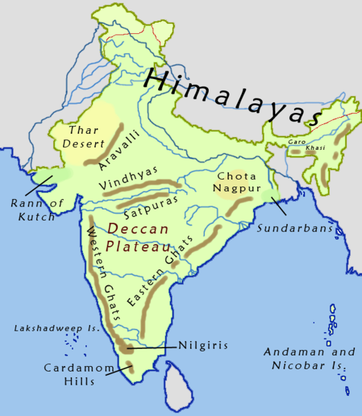 location on the map indus river valley with thar great indian desert and himalayas
