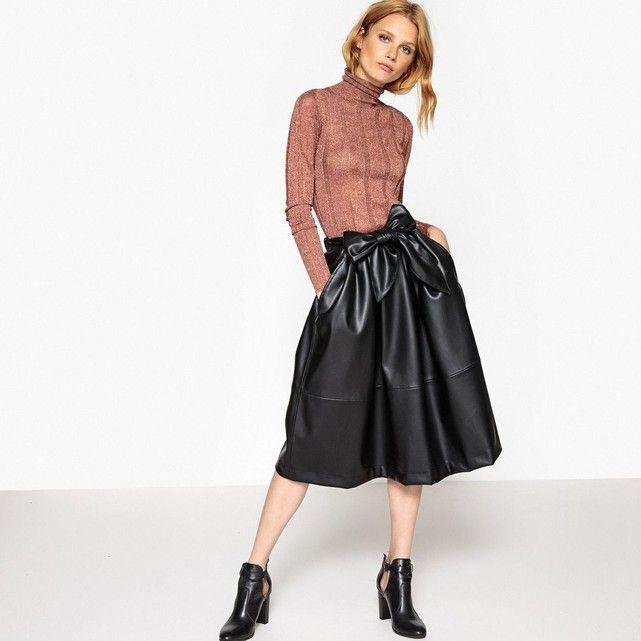 faux leather midi skirt jupe midi simili cuir promotion fashion pinterest blanchiment. Black Bedroom Furniture Sets. Home Design Ideas