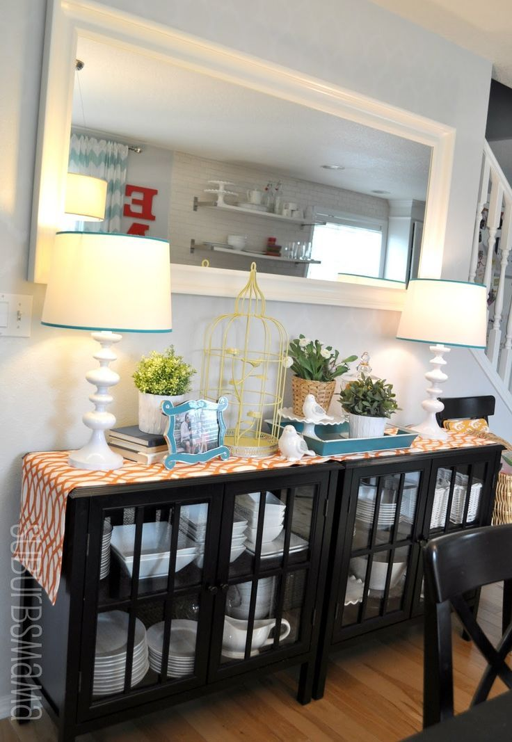 Two Cabinets To Create A Buffet Table In The Dining Room Brilliant These Are