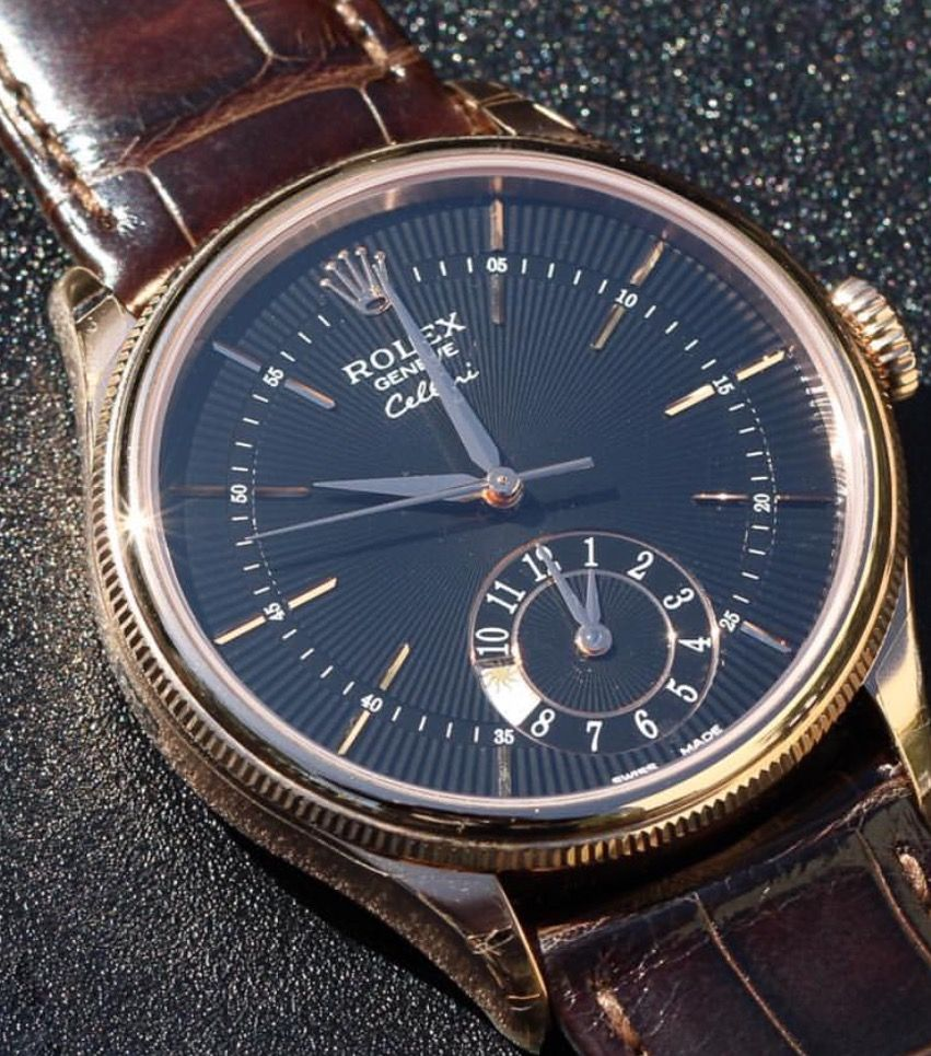 Rolex Cellini Dual Time 39mm; Self-Winding Movement