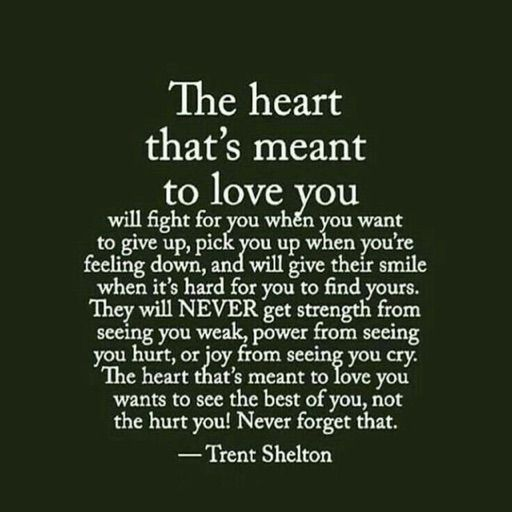 the heart thats meant to love you