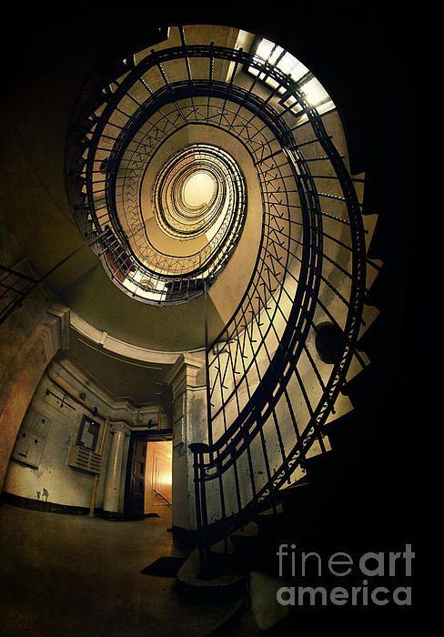 Best Metal Spiral Vintage Staircase By Jaroslaw Blaminsky In 400 x 300