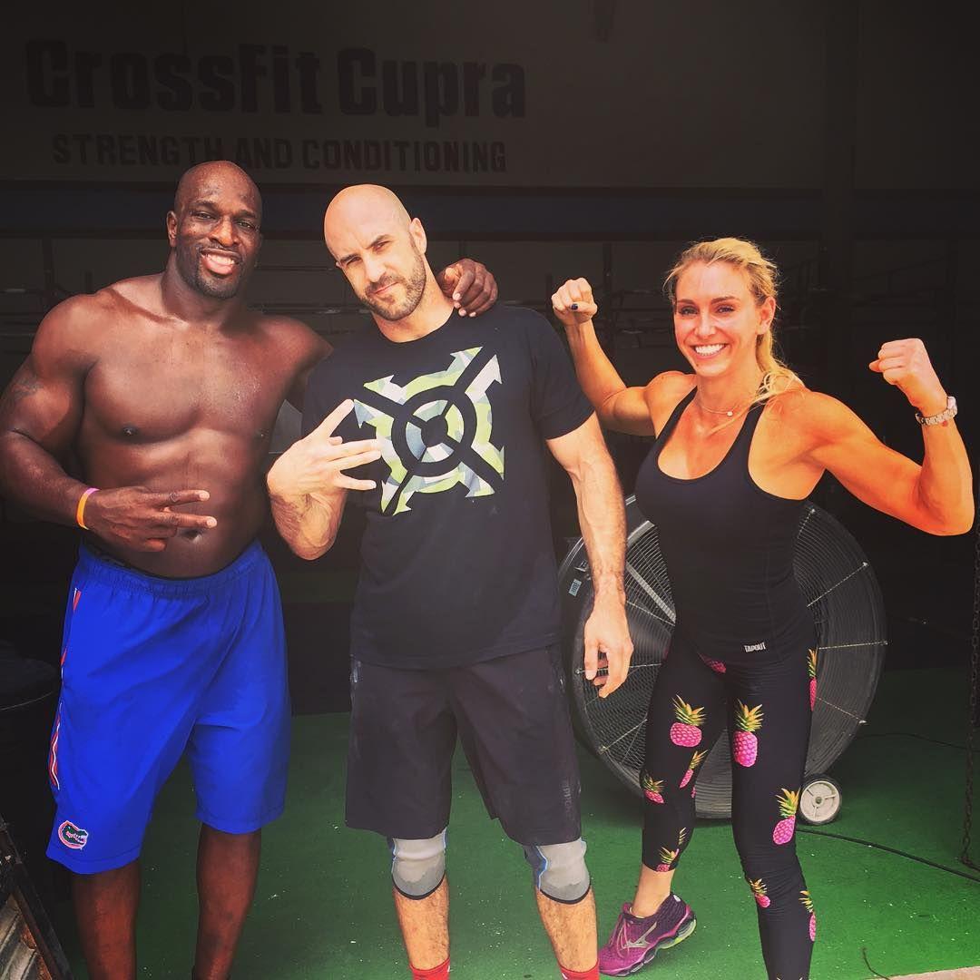 Pre-show training #Check! Next up, #WWEMerida @wwecesaro @charlottewwe @titusoneilwwe