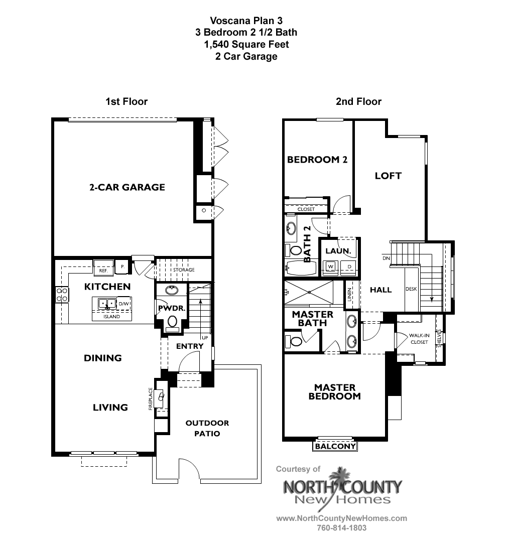 voscana floor plan 3 new townhomes in carlsbad ca by shea homes