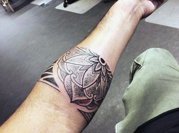 e5e2ffd1f Cool unique flower forearm band tattoos for guys also men masculine design  ideas rh pinterest