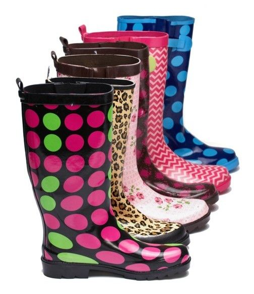 17 Best images about Rain Boots - they weren't this colorful when ...