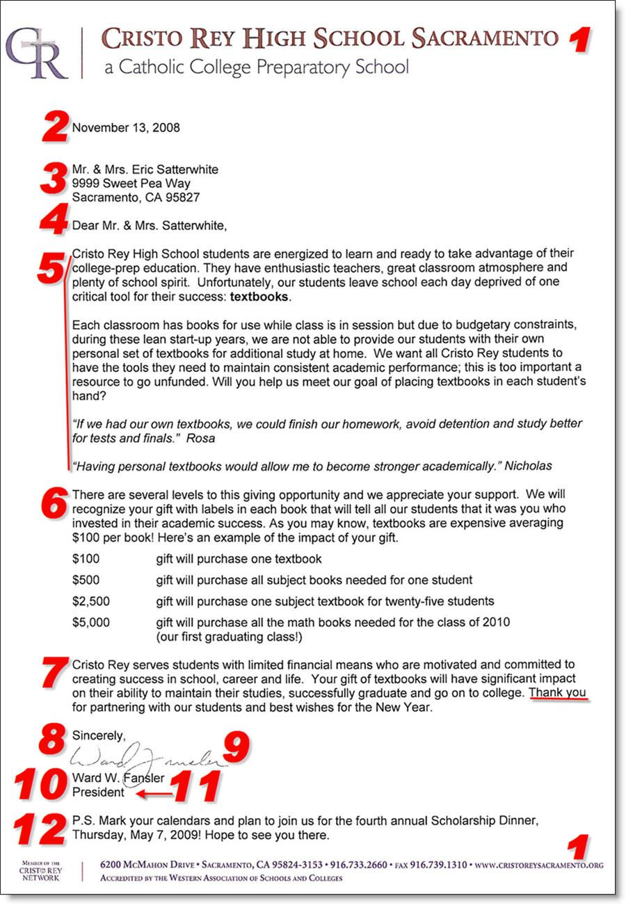 Great Fundraising Letter Example  Fundraising And NonProfit