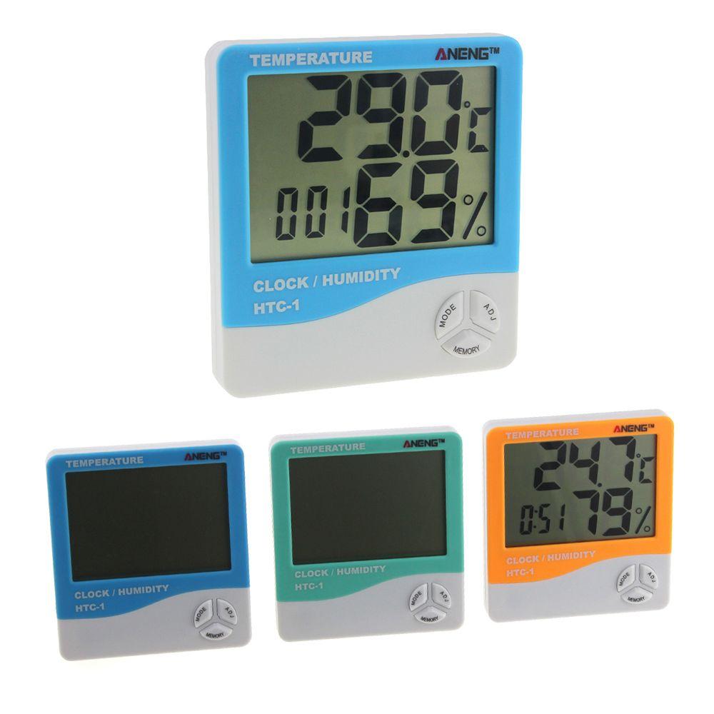 Aneng htc 1 cuarto interior lcd medidor electr nico de for Medidor de temperatura y humedad digital