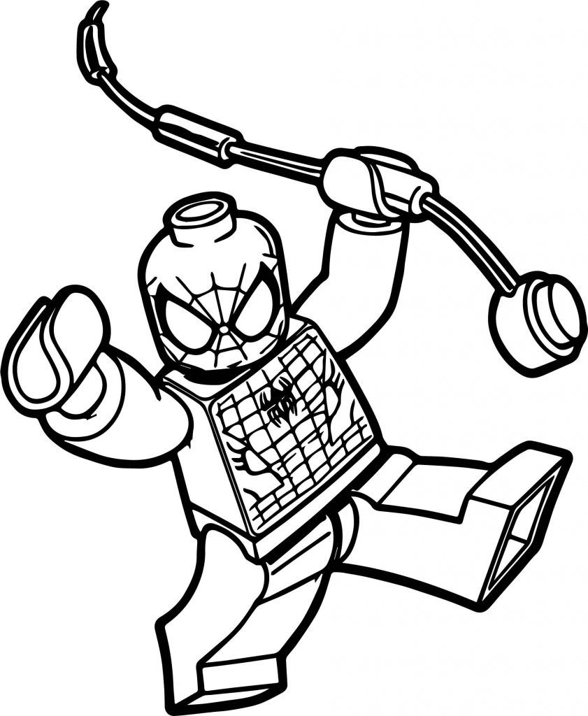 Lego Spiderman Coloring Pages Lego Coloring Pages Spiderman