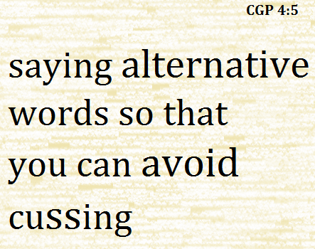 """Yes! Amen:) People that cuss just show their lack of intelligence by being unable to find an """"alternative word"""" :D"""