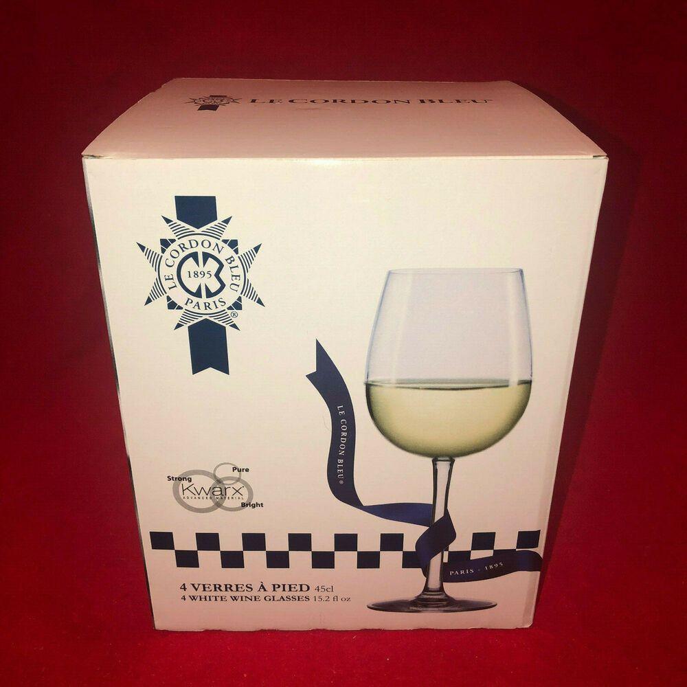 Le Cordon Bleu 4 White Wine Glasses 15 2 Fl Oz Lecordonbleu White Wine Glasses White Wine Le Cordon Bleu