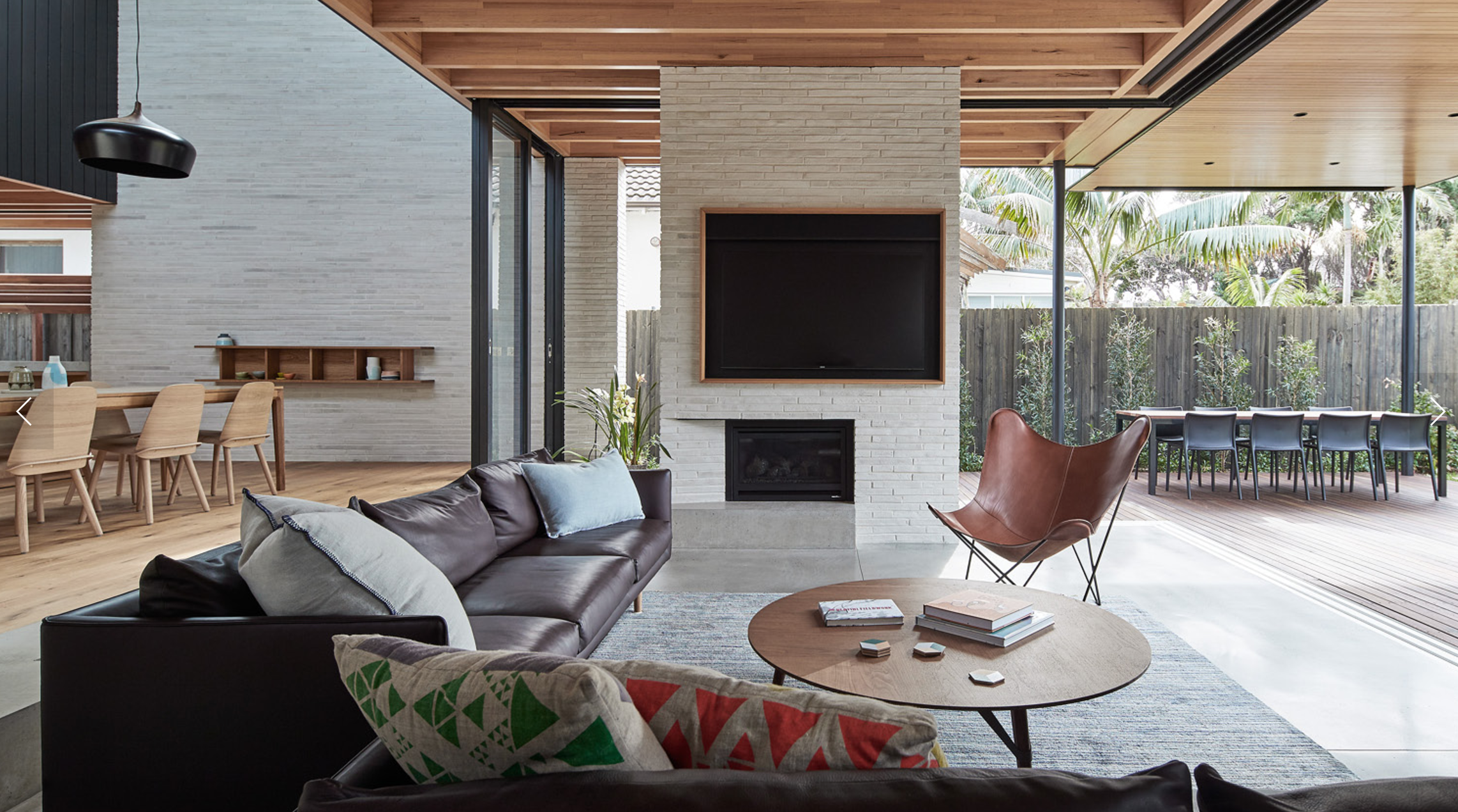 brick house ABA architects Love the fireplace location and ...