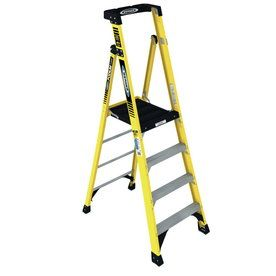 Werner 4 Ft Fiberglass 375 Lb Type Iaa Step Ladder Pd7304 Step Ladders Ladder Platform Ladder