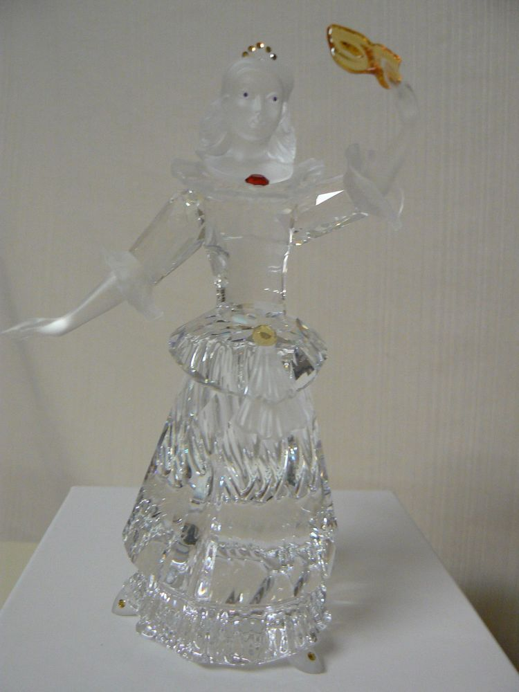 8d2daecbe SWAROVSKI 2000 SCS MASQUERADE COLUMBINE CRYSTAL FIGURINE Girl with Mask  Dress (eBay Link)