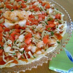 Layered Seafood Dip #shrimpdip