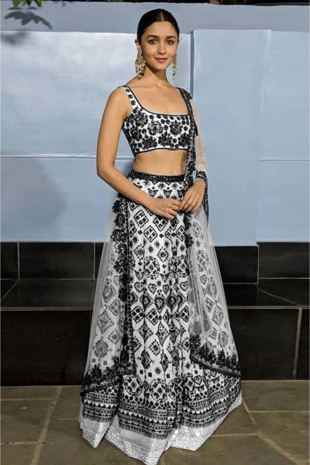 9a339ff1ea Alia Bhatt Taffeta Embroidered Lehenga Choli In Multi Colour | Happy ...