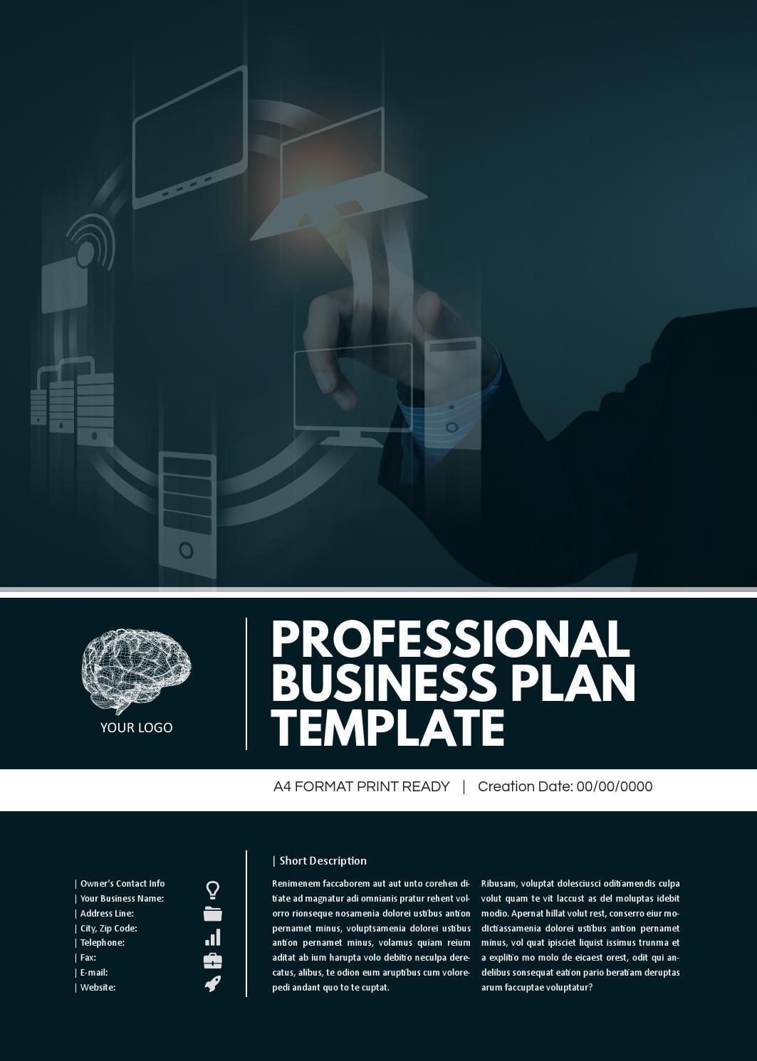 Professional Business Plan Template  Business Plan Template