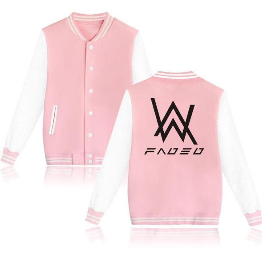 7c56658640dd0 Plus Size College Baseball Jacket Men Winter Alan Walker Cardigan Pink  Hoodie Sweatshirts Male Jaqueta Masculina